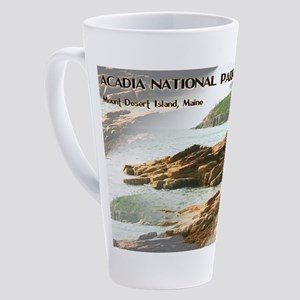 Acadia National Park Coastline 17 oz Latte Mug