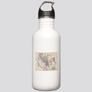 Vintage Map of Montana Stainless Water Bottle 1.0L