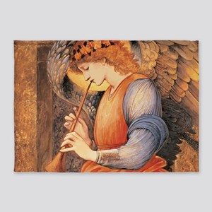 An Angel Playing a Flageolet 5'x7'Area Rug