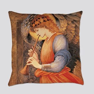 An Angel Playing a Flageolet Everyday Pillow
