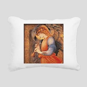 An Angel Playing a Flage Rectangular Canvas Pillow