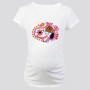Day of the Dog Snoopy Face Maternity T-Shirt