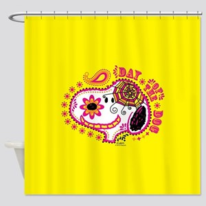 Day of the Dog Snoopy Face Shower Curtain