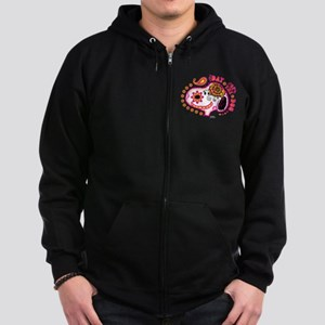 Day of the Dog Snoopy Face Zip Hoodie (dark)