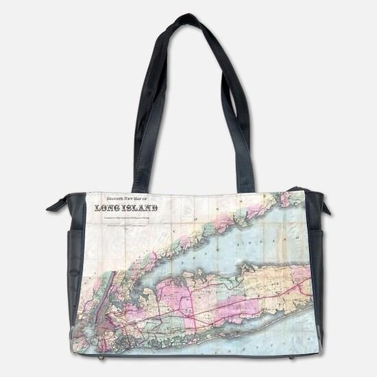 Vintage Map of Long Island (1880) Diaper Bag