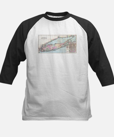 Vintage Map of Long Island (1880) Baseball Jersey