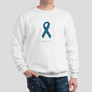 Beautiful. Teal Ribbon Sweatshirt