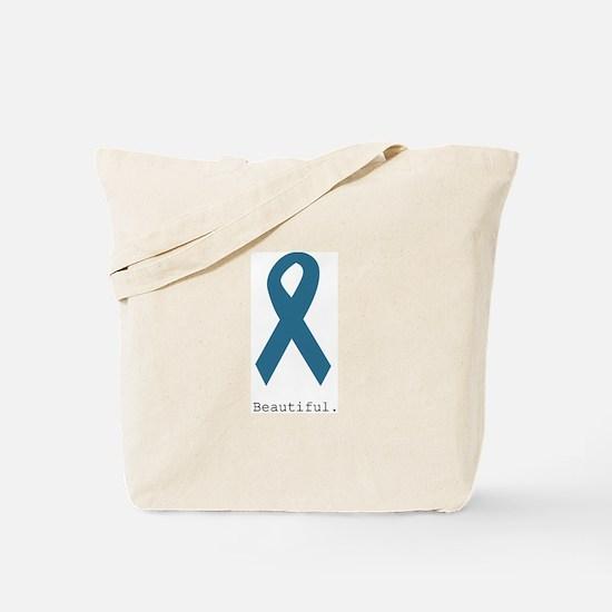 Beautiful. Teal Ribbon Tote Bag