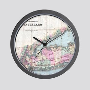 Vintage Map of Long Island (1880) Wall Clock