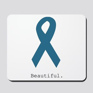 Beautiful. Teal Ribbon Mousepad