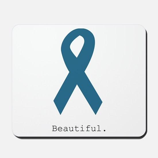 Beautiful. Teal Ribbon Mousepad