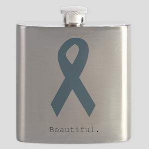 Beautiful. Teal Ribbon Flask