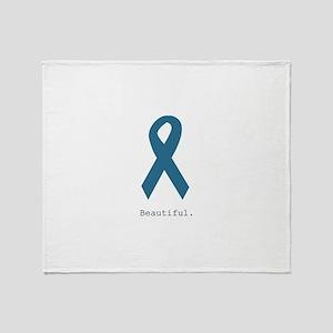 Beautiful. Teal Ribbon Throw Blanket