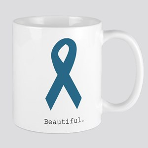 Beautiful. Teal Ribbon Mugs