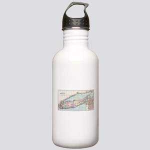 Vintage Map of Long Is Stainless Water Bottle 1.0L