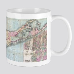 Vintage Map of Long Island (1880) Mugs