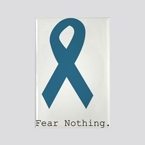 Fear Nothing. Teal Rib Rectangle Magnet