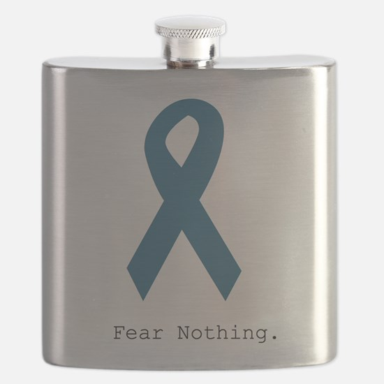 Fear Nothing. Teal Rib Flask