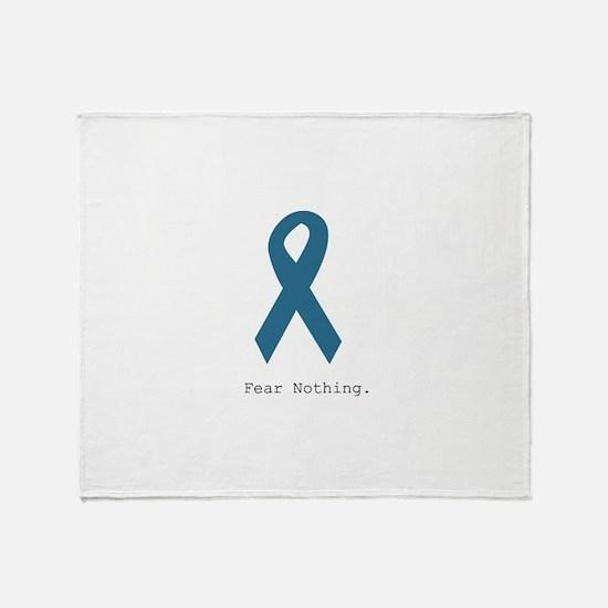 Fear Nothing. Teal Rib Throw Blanket