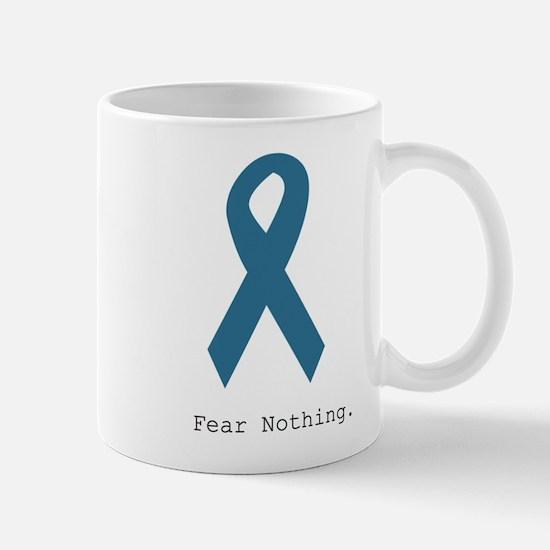 Fear Nothing. Teal Rib Mugs