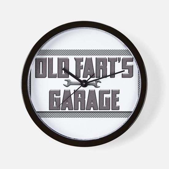 old fart garage Wall Clock