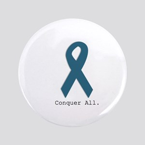 Conquer All. Teal Ribbon Button