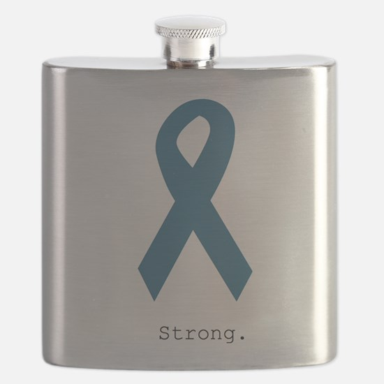 Strong. Teal Ribbon Flask