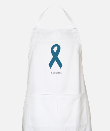 Strong. Teal Ribbon Apron