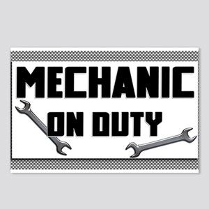 mechanic on duty Postcards (Package of 8)