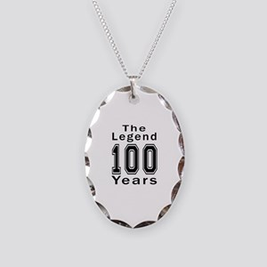 100 Legend Birthday Designs Necklace Oval Charm