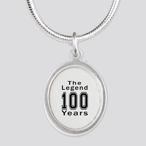 100 Legend Birthday Designs Silver Oval Necklace