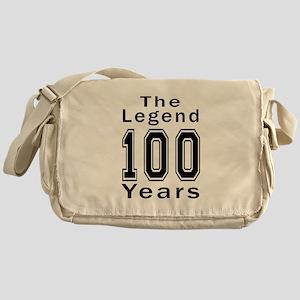100 Legend Birthday Designs Messenger Bag