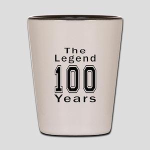 100 Legend Birthday Designs Shot Glass
