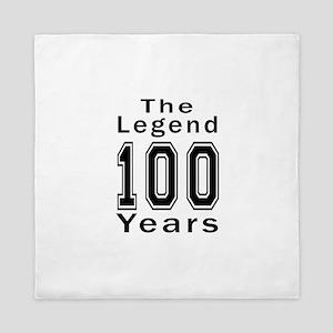 100 Legend Birthday Designs Queen Duvet