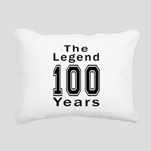 100 Legend Birthday Desi Rectangular Canvas Pillow