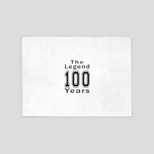 100 Legend Birthday Designs 5'x7'Area Rug