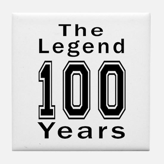 100 Legend Birthday Designs Tile Coaster