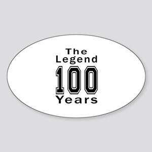 100 Legend Birthday Designs Sticker (Oval)