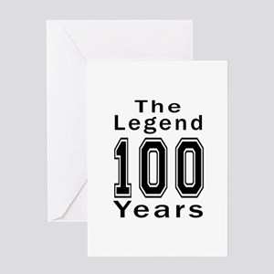 100 Legend Birthday Designs Greeting Card