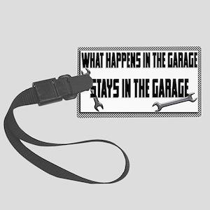 garage stays in garage Luggage Tag