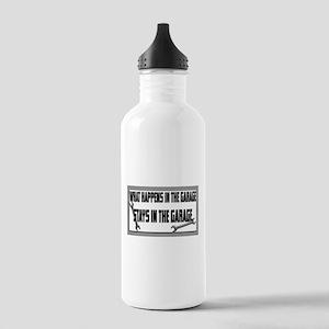 garage stays in garage Water Bottle