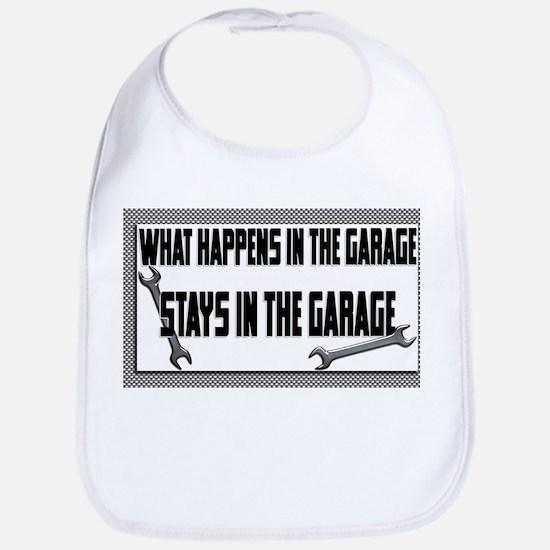 garage stays in garage Bib