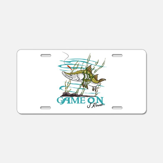 J Rowe Snook - Game On Aluminum License Plate