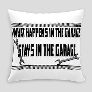 garage stays in garage Everyday Pillow