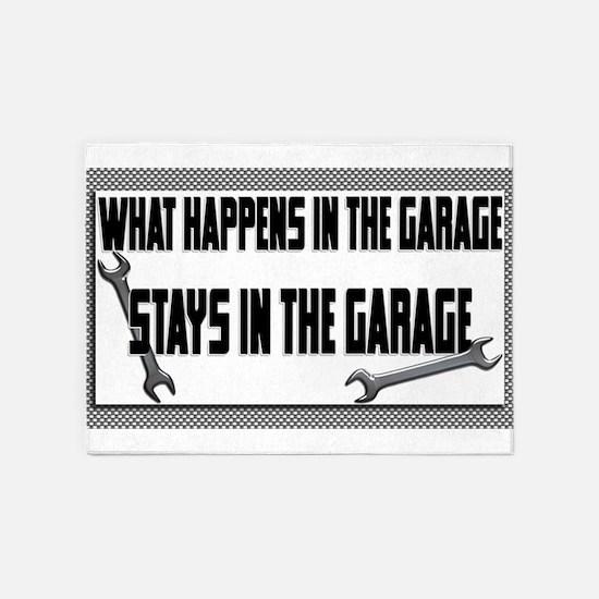 garage stays in garage 5'x7'Area Rug