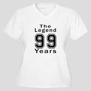 99 Legend Birthda Women's Plus Size V-Neck T-Shirt