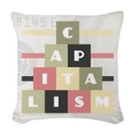 Capitalism Woven Throw Pillow