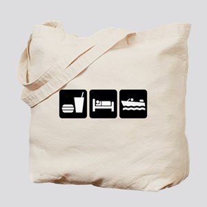 Eat, Sleep, Boating Tote Bag