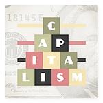 Capitalism Square Car Magnet 3