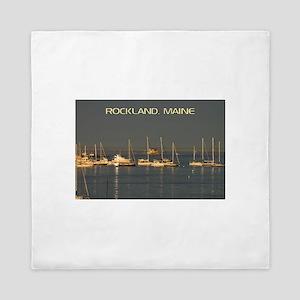 Rockland Harbor, Maine Queen Duvet